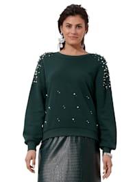 Sweatshirt mit Perlen-Verzierung