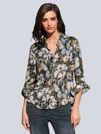 Bluse mit floralem Dessin