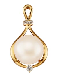 Pendentif avec perle bouton de culture d'eau douce