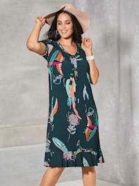 Kleid mit dekorativer Schnürung am Ausschnitt