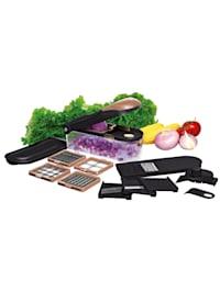 Cucinova 16tlg. Obst- & Gemüseschneider-Set 'Dicer Pro Edition Roségold'