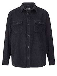 Chemise en velours côtelé à 2 poches poitrine