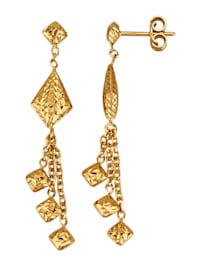 Boucles d'oreilles en or jaune 375