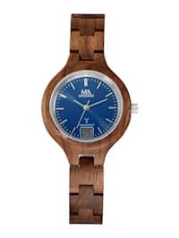 Dámské hodinky s pouzdrem z ořechového dřeva