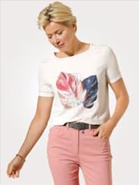 Shirt mit platziertem Druckmotiv