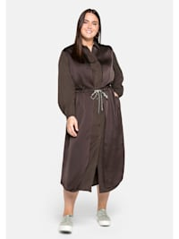 Kleid in 2-in-1-Optik, im Materialmix