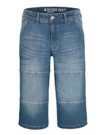 Jeansbermuda mit leichter Waschung