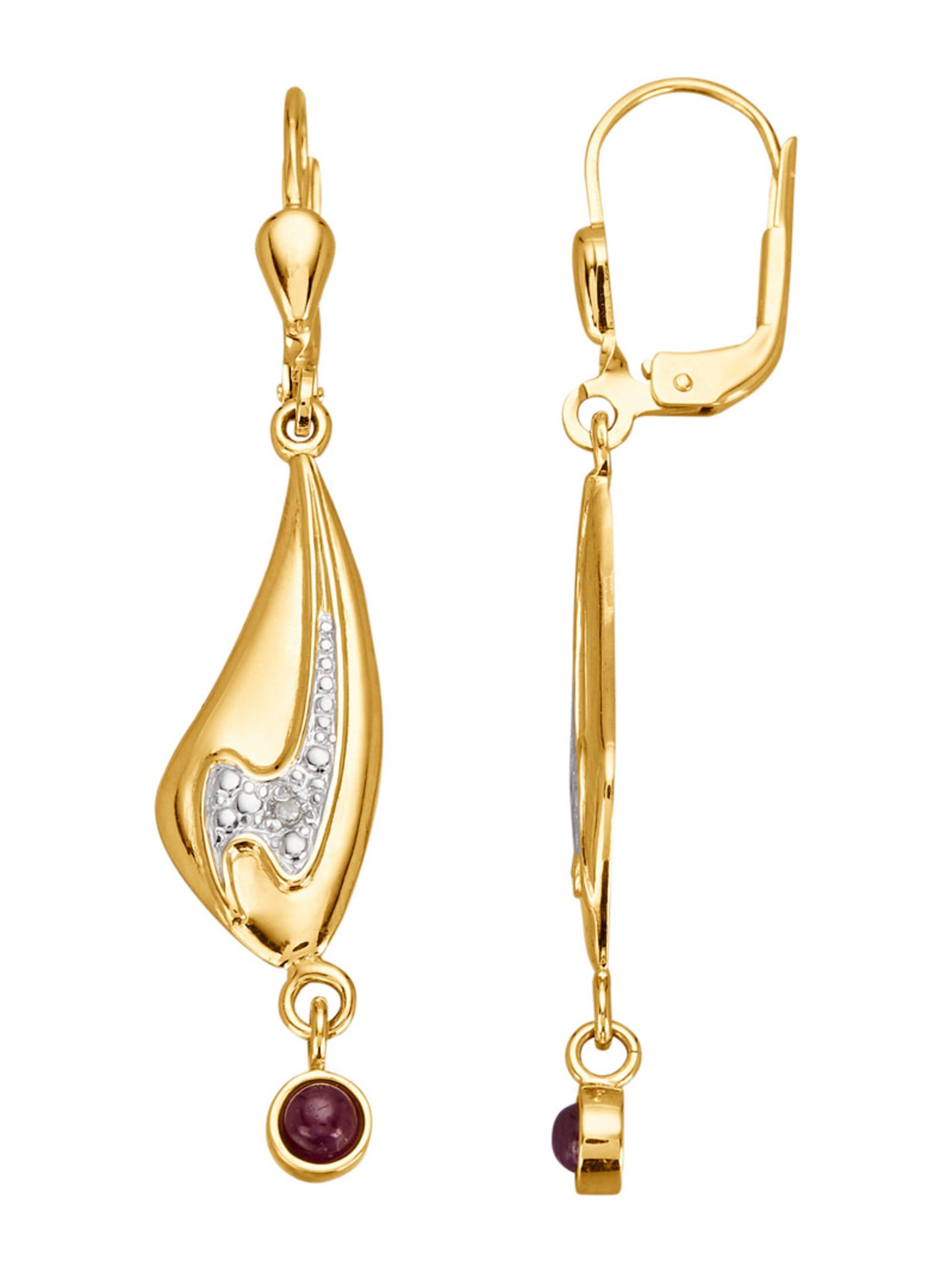 Ohrringe mit Rubin und Diamant Y58xN