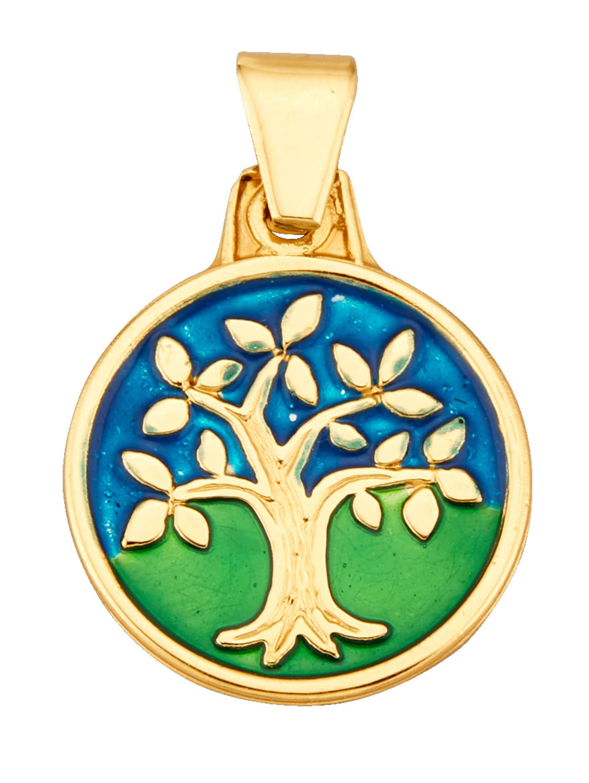 Lebensbaum-Anhänger in Gelbgold 375 Lebensbaum HtLZ3