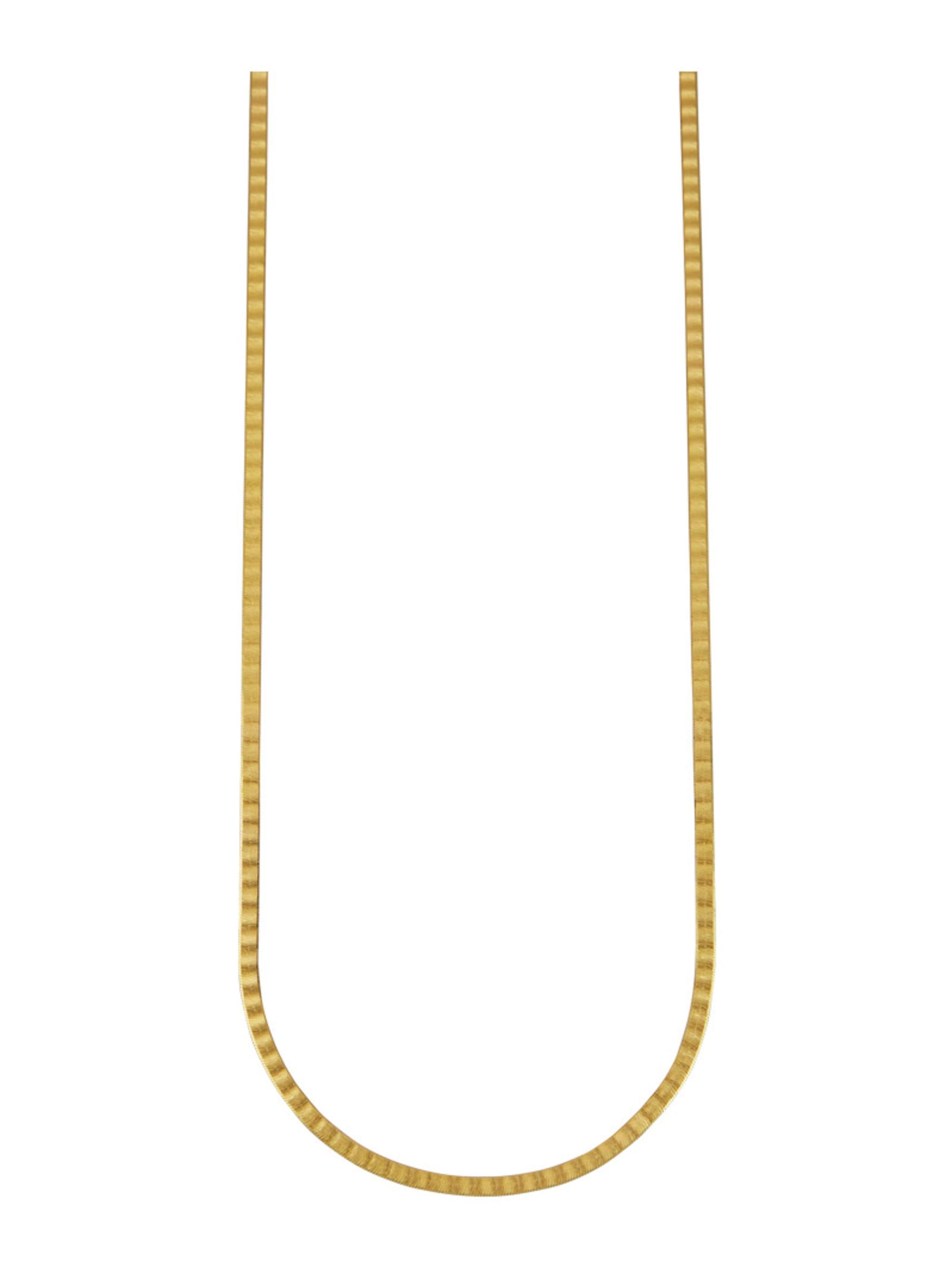 Herringbone-Kette in Massiv Gelbgold 333 pzhS8