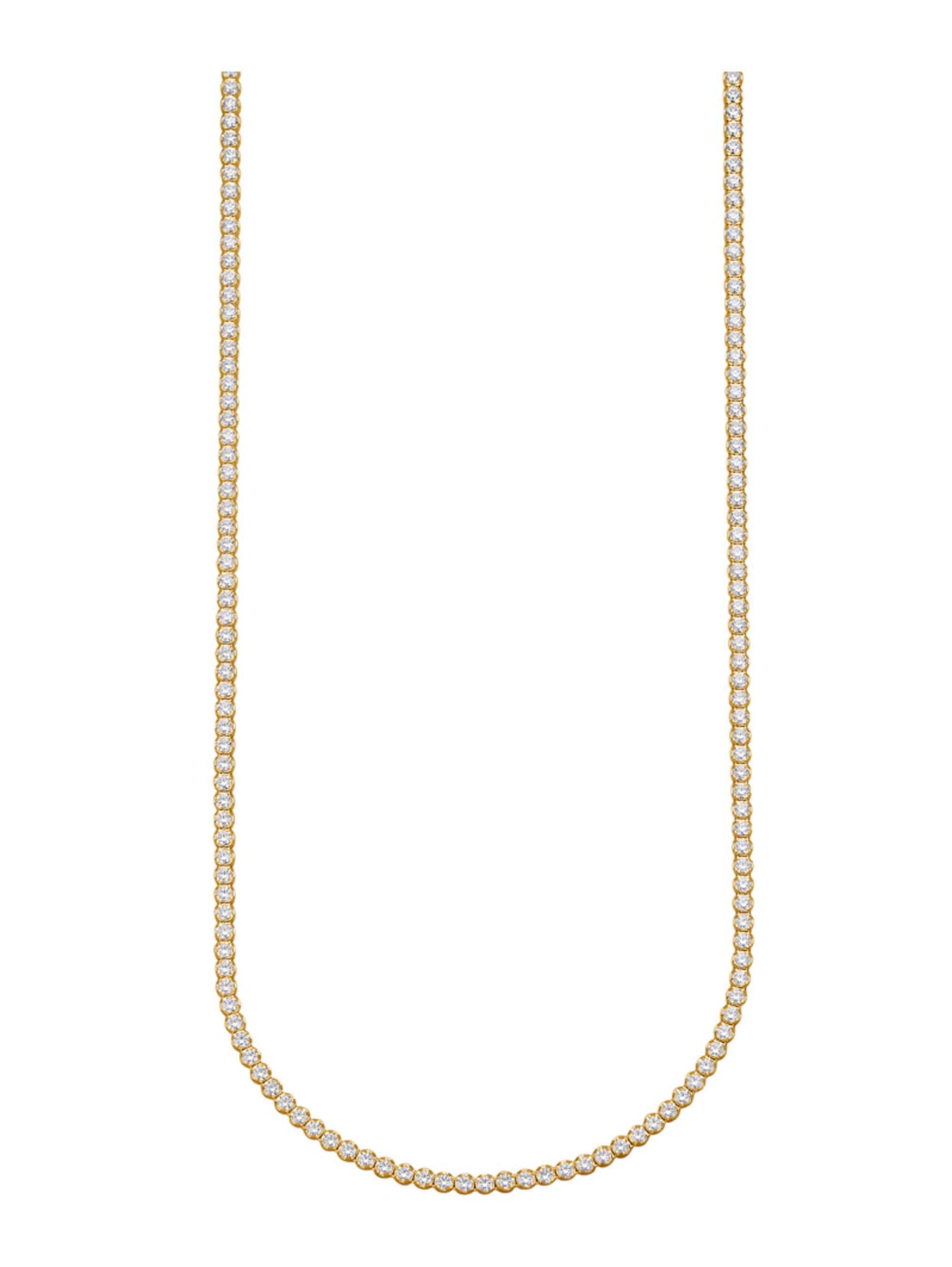 Halskette mit Zirkonia egGkk
