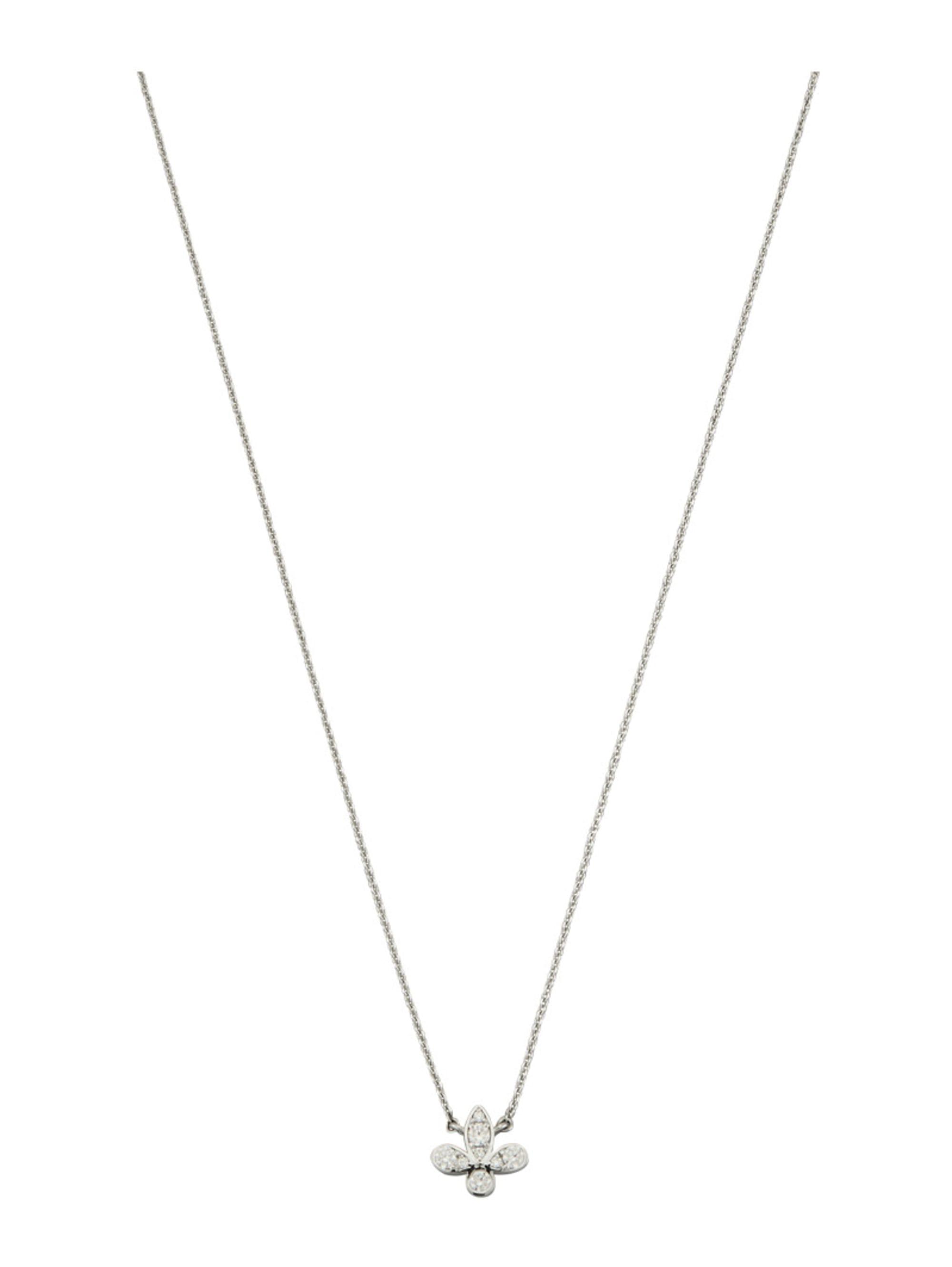 Diemer Diamant Lilien-Collier mit Brillanten NhSdr
