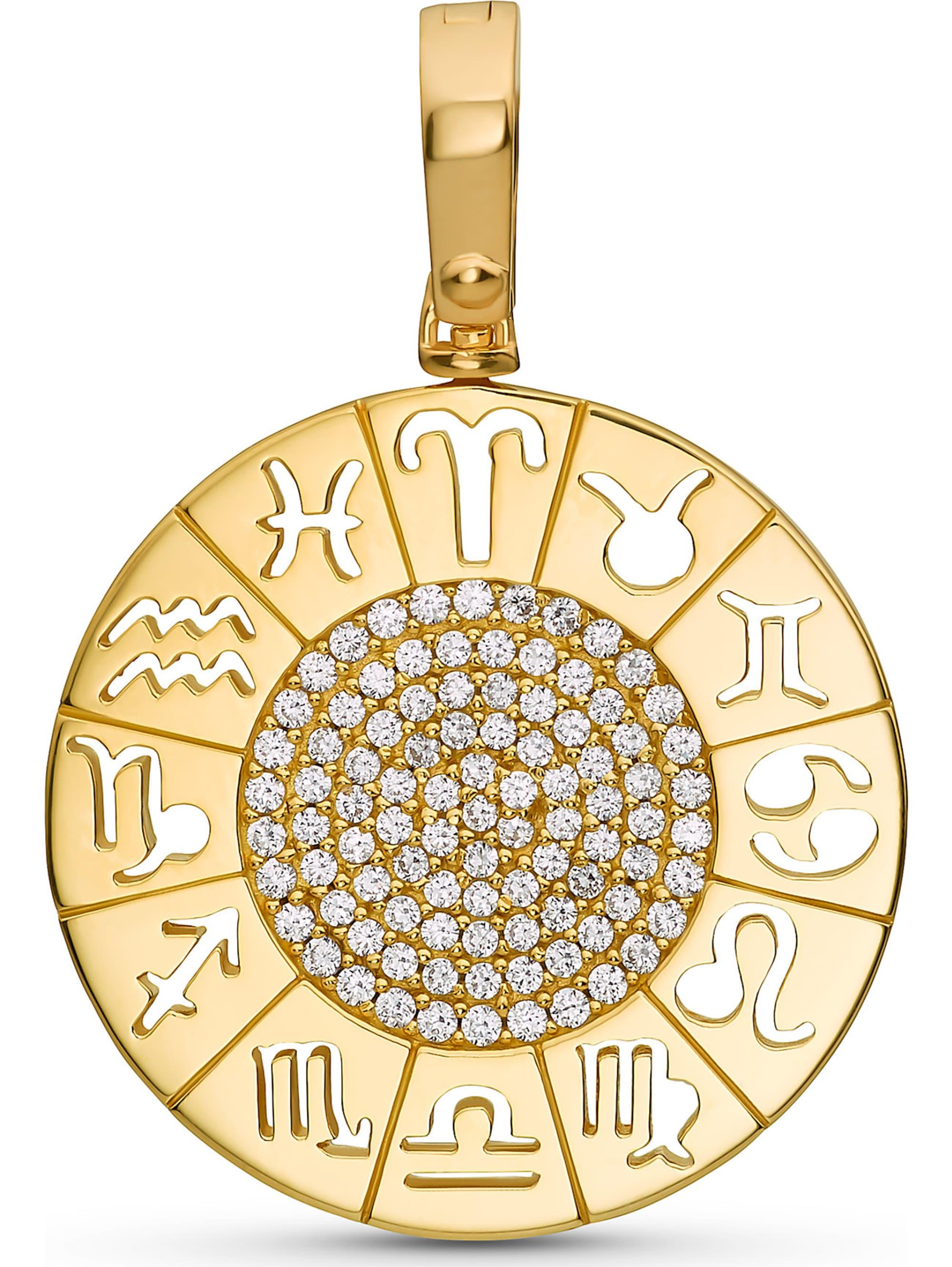 Jette JETTE Silver Damen-Charm Lucky Charm 925er Silber 94 Zirkonia SSGwo