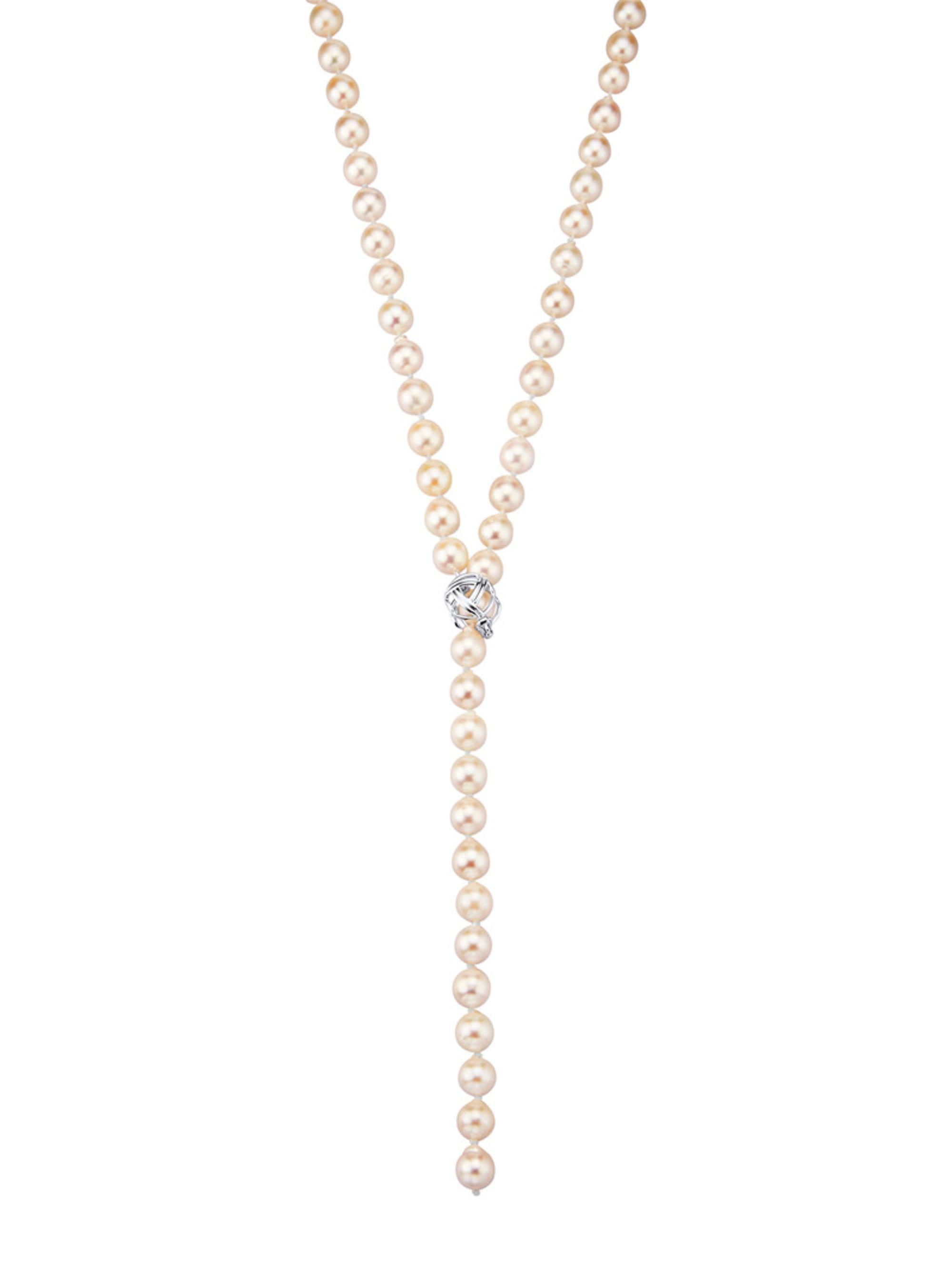 Diemer Perle Akoya-Zuchtperlen-Kette mit Klappverschluss X899s