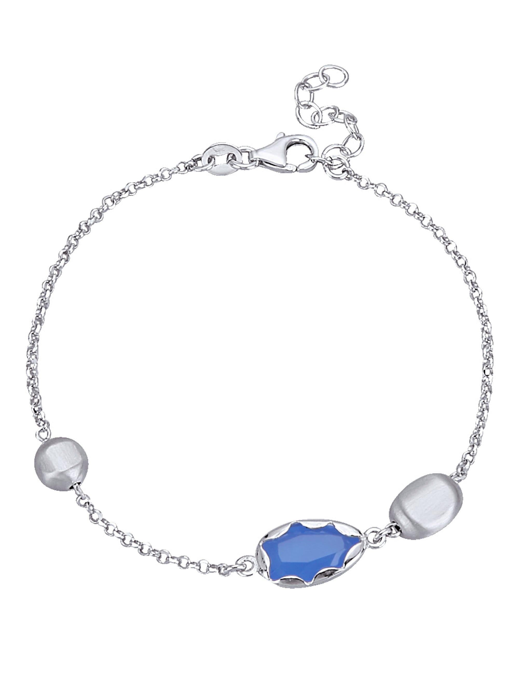 AMY VERMONT Armband mit blauen Steinen 4Vap7