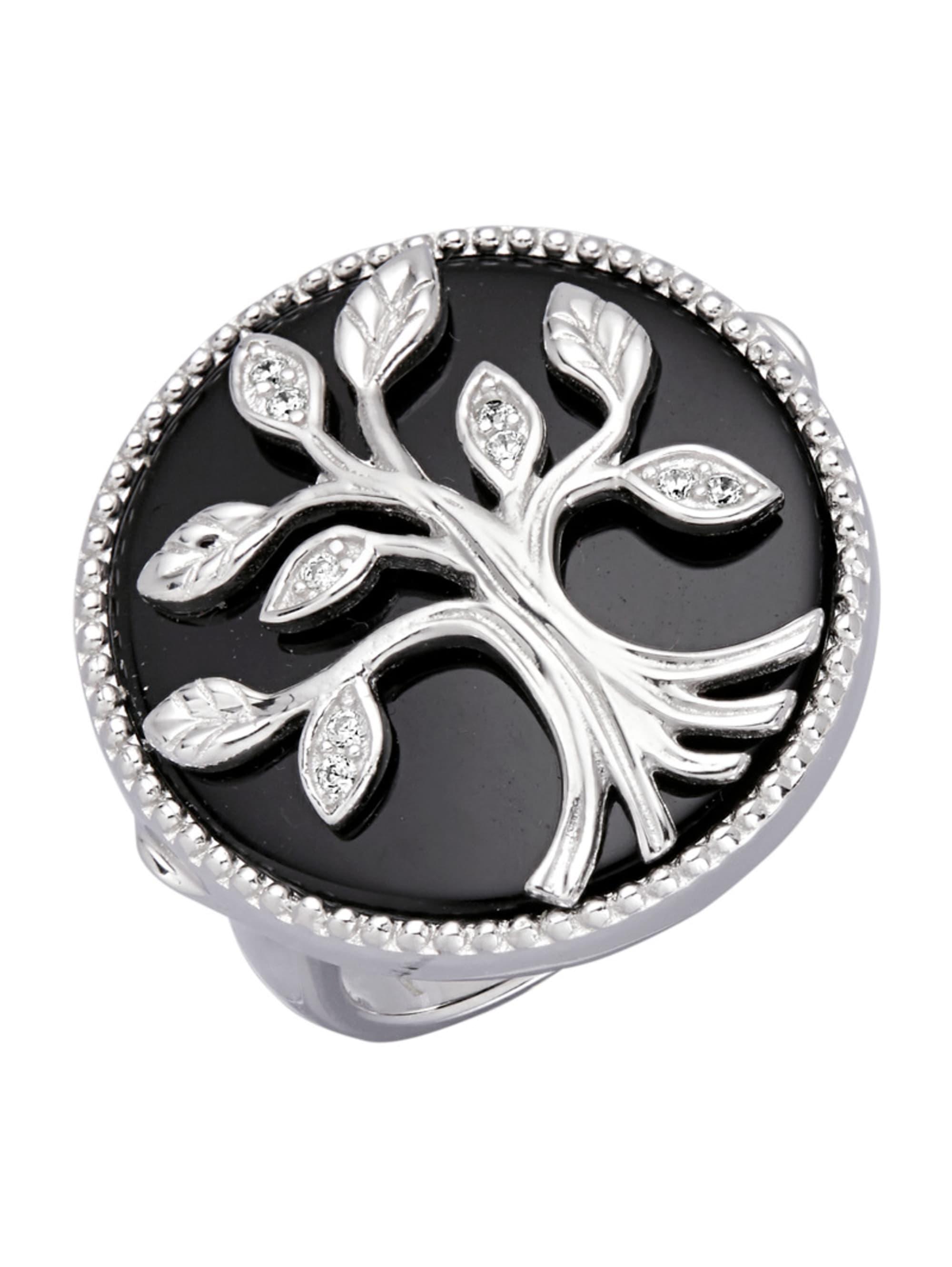 Lebensbaum-Ring mit Achat Y1YFD