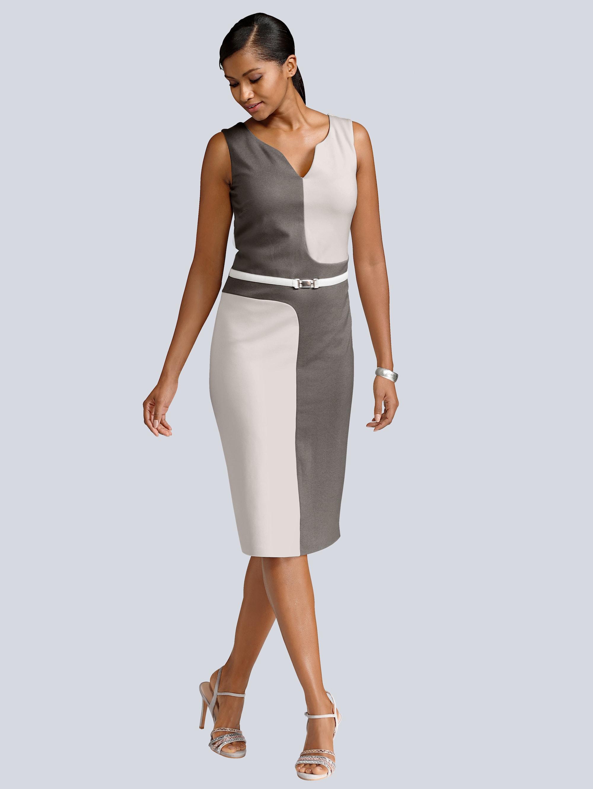 Alba Moda Kleid im aktuellen Colourblocking MJ3ZZ Fkwyh