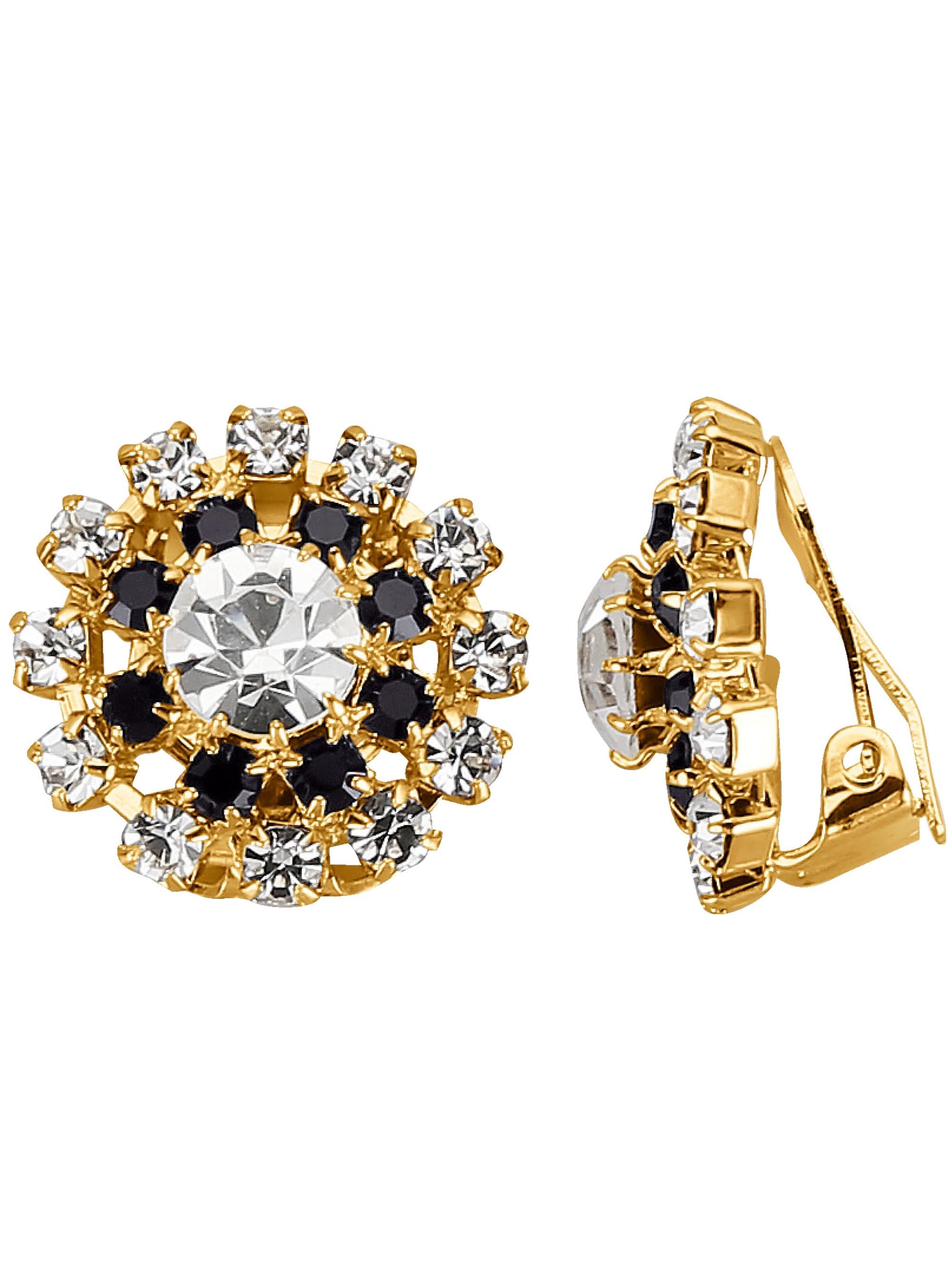 Golden Style Ohrclips mit Kristallen Fpb4A