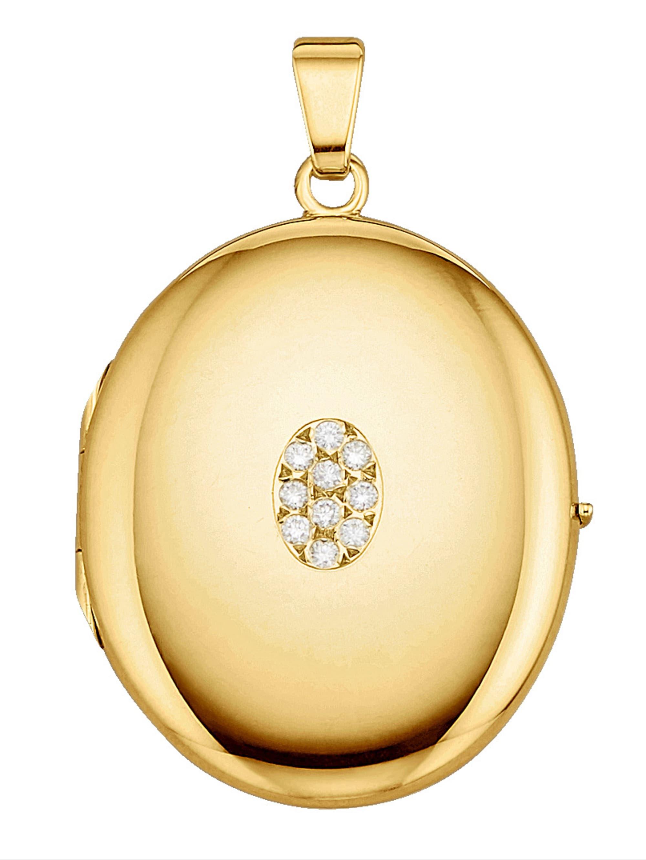 Diemer Diamant Medaillon-Anhänger DQhoR