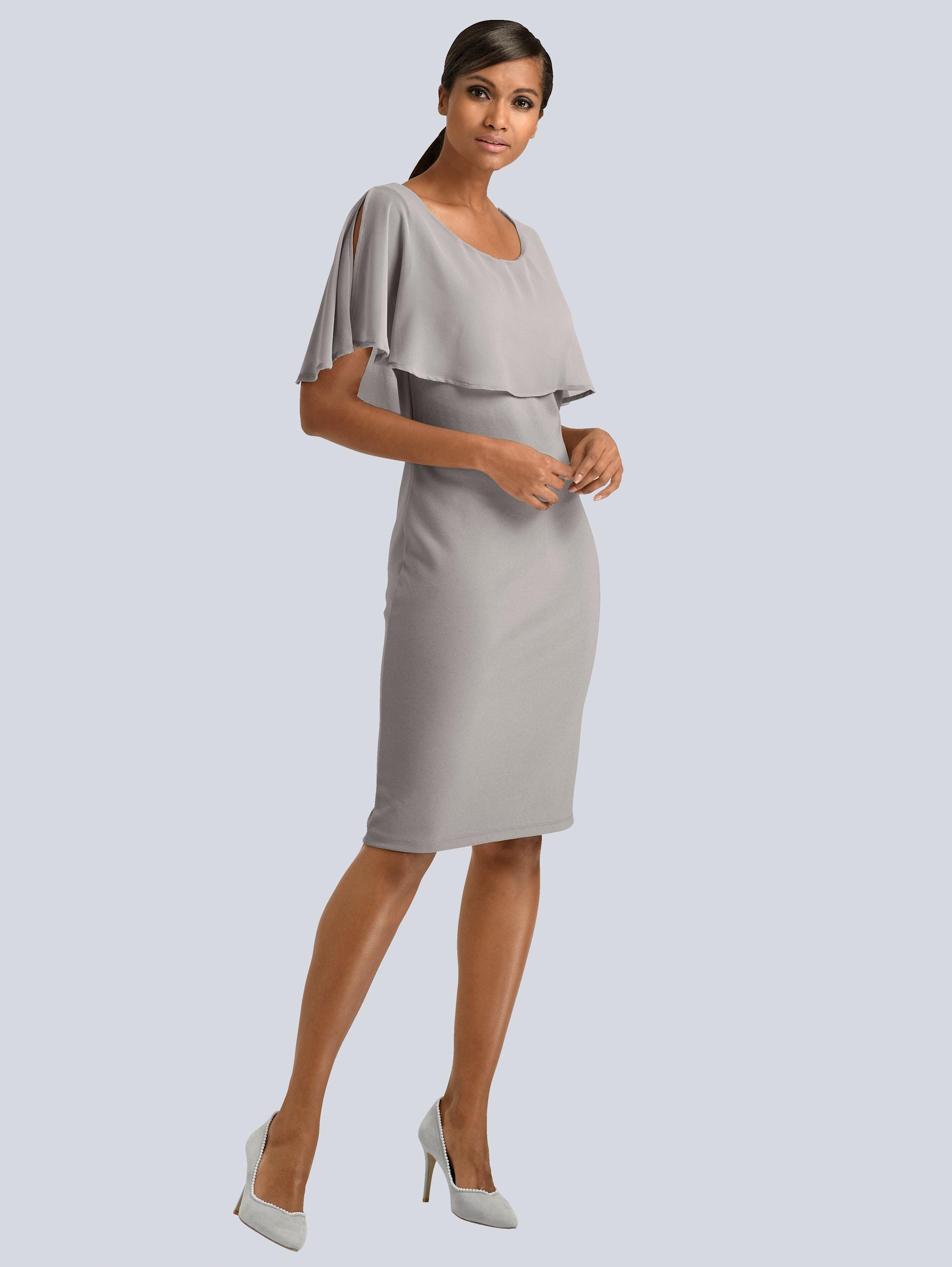 Alba Moda Kleid mit Chiffon-Layer uMPC3 iHpxN