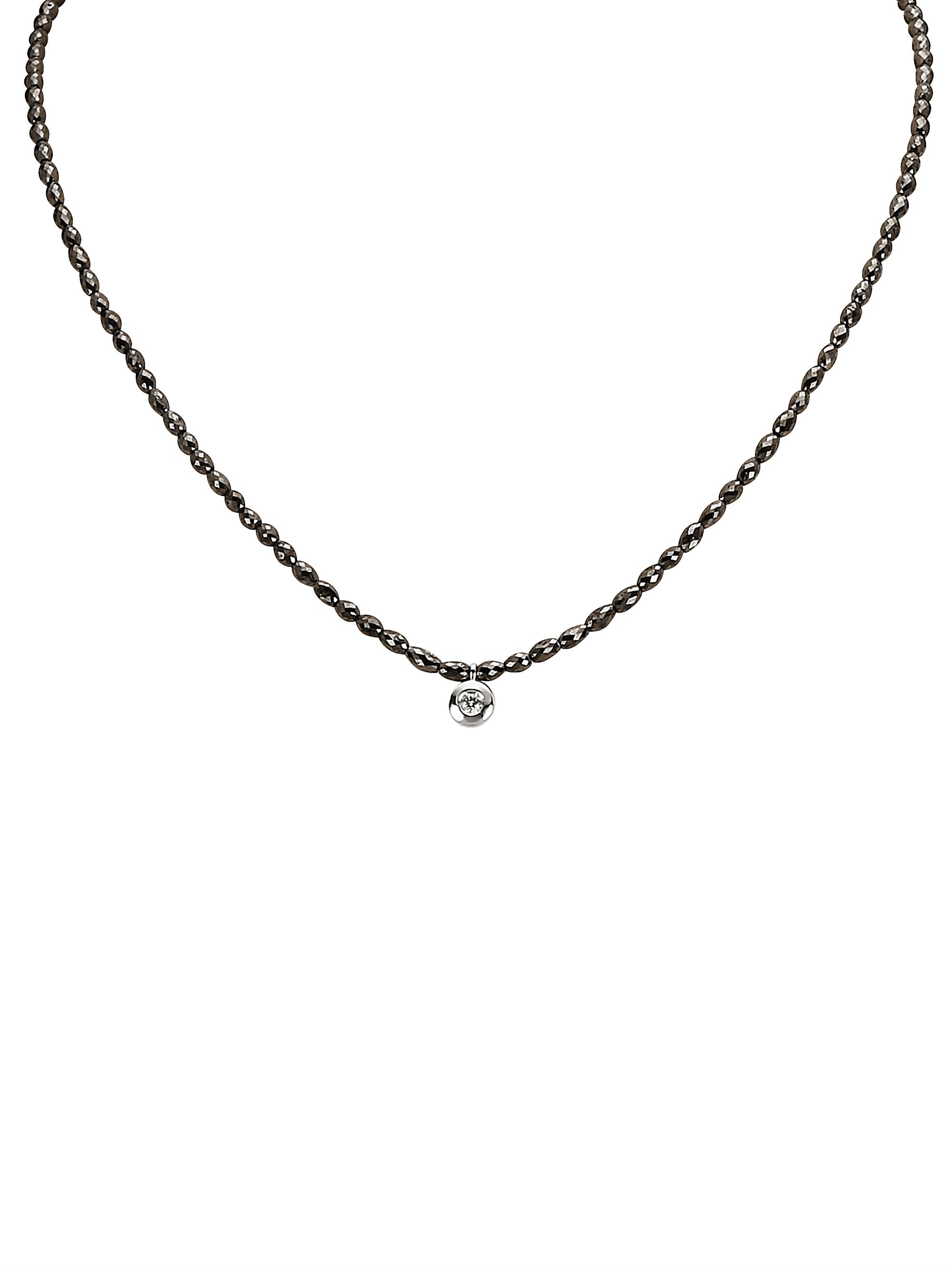 Diemer Diamant Collier mit schwarzen Diamanten aus schwarzen Diamanten Syvoj