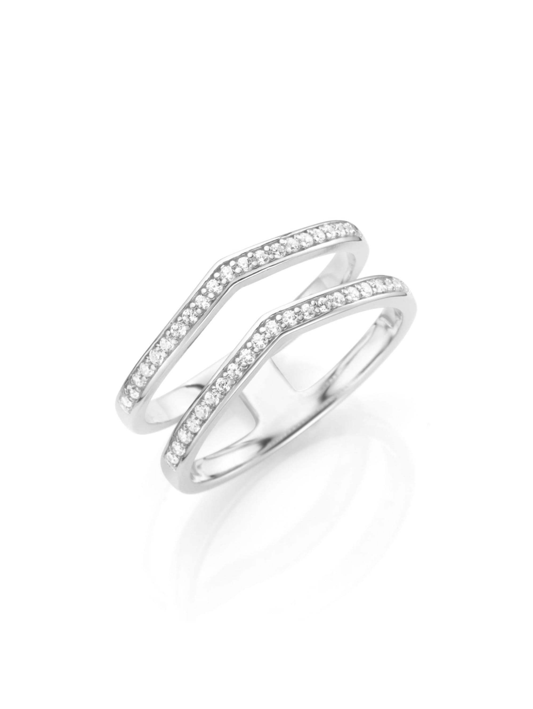 Smart Jewel Ring in 2-reihiger Optik, Silber 925 ht4SH