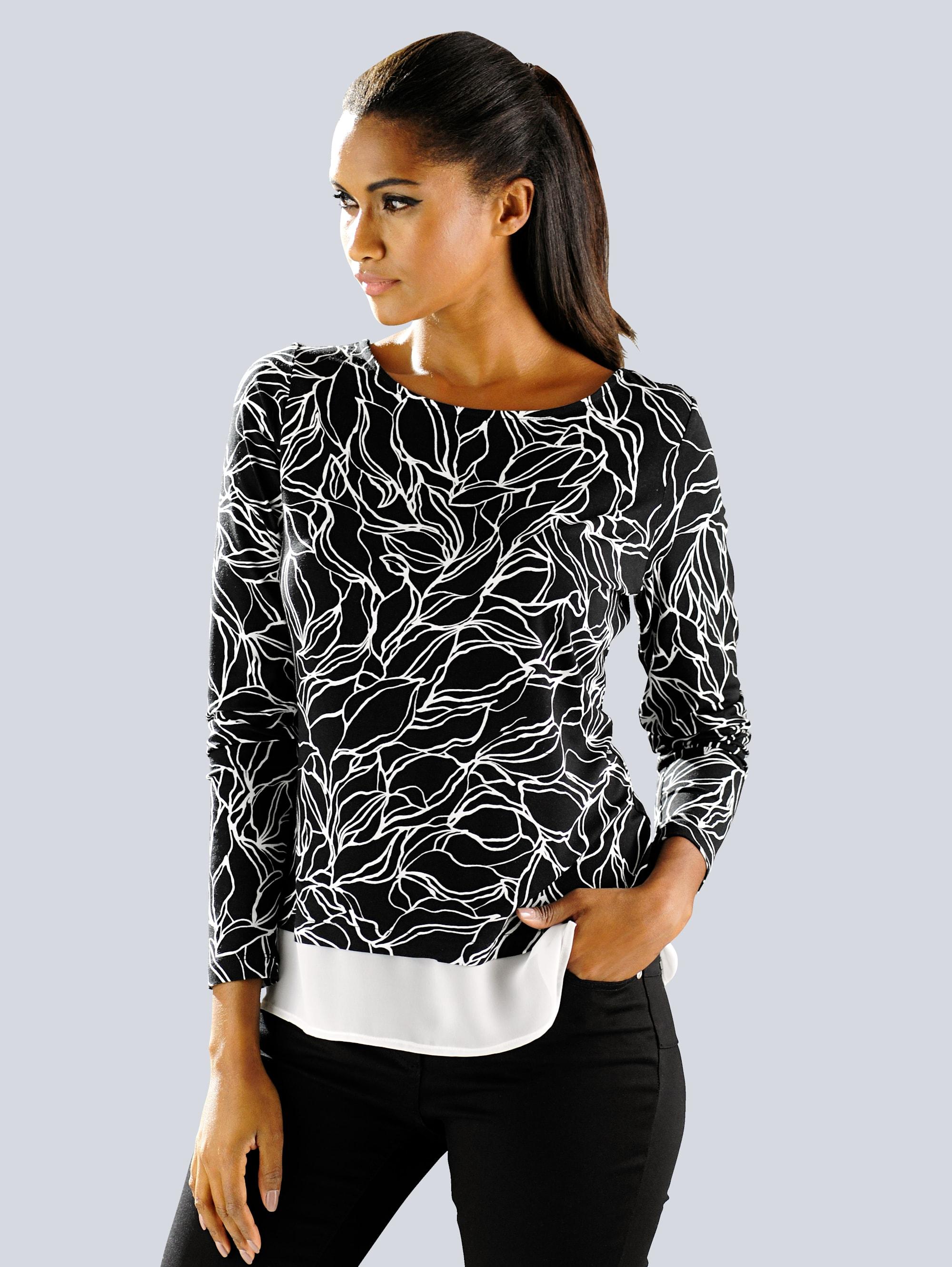 Alba Moda Shirt mit exklusivem Floralprint Omdul lM8zv
