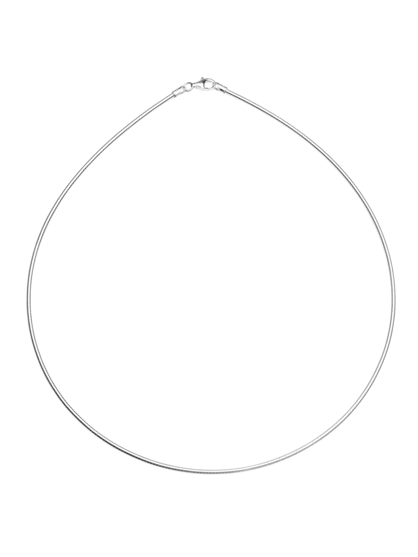 OSTSEE-SCHMUCK Halsreif Omega 1,9 mm Silber 925/000 , Gbbqp