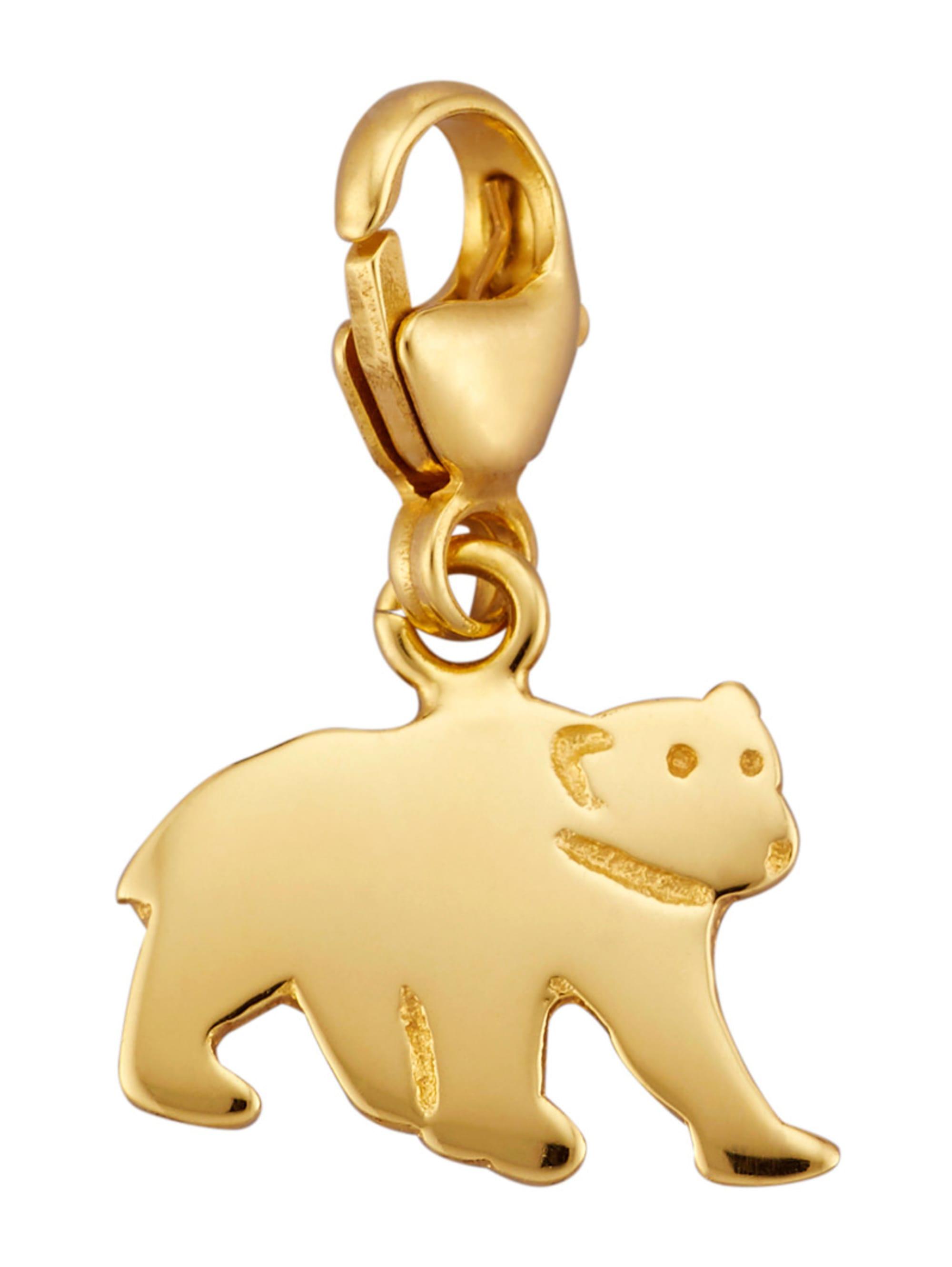Bär-Einhänger in Gelbgold 375 CUXUu