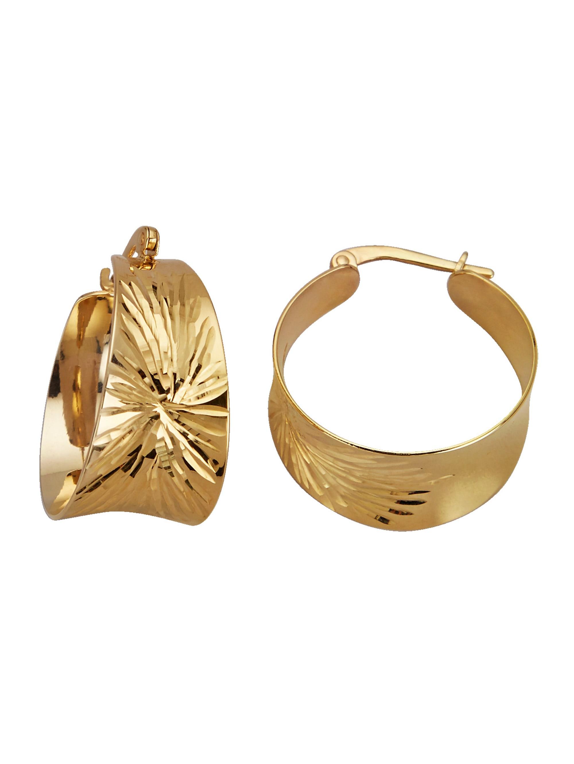 Diemer Gold Creolen diamantiert zDC4e