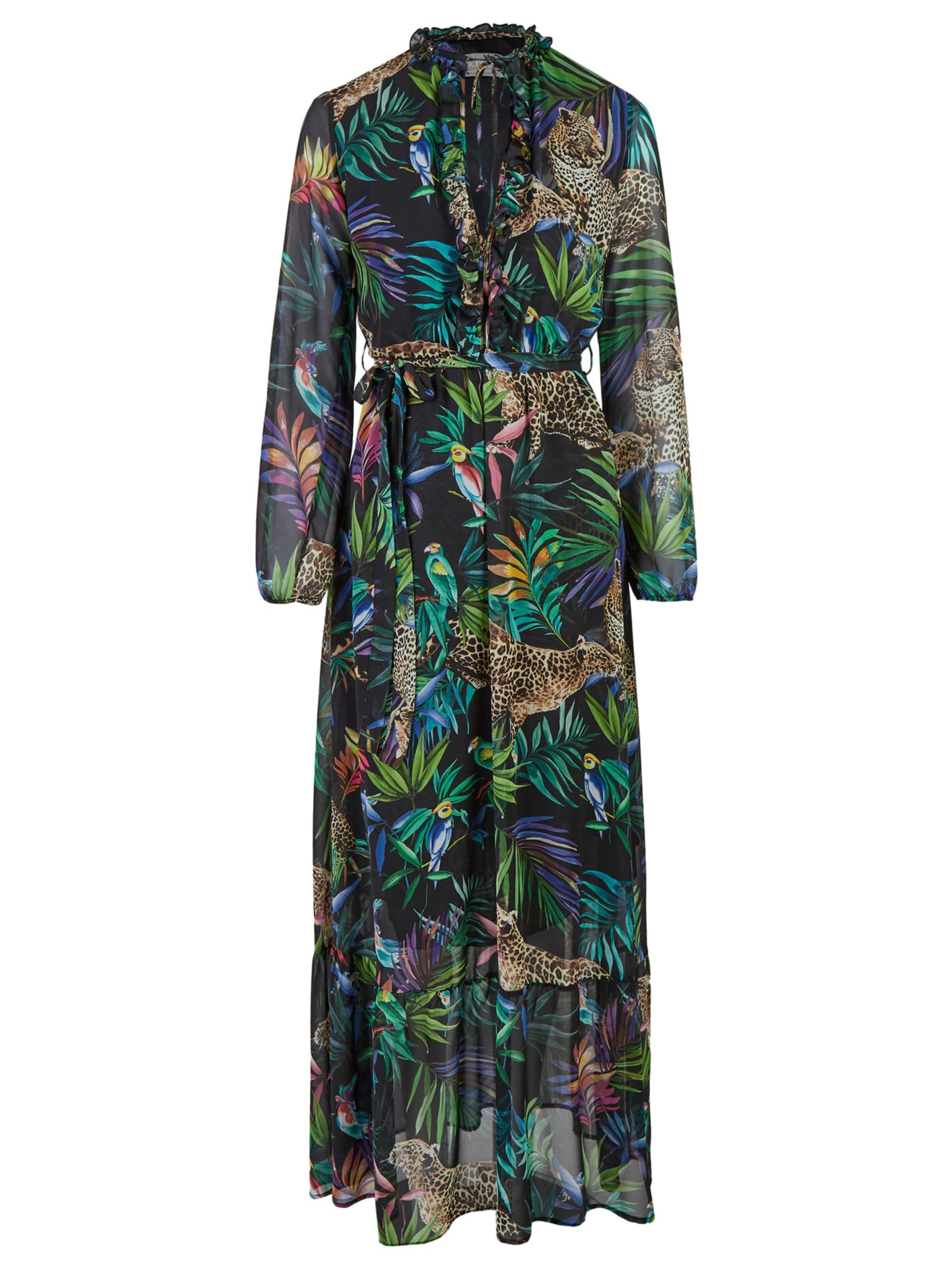 Nicowa Maxi-Kleid mit tropischem Allover-Print – ANIWA 5G5VX JsUPr