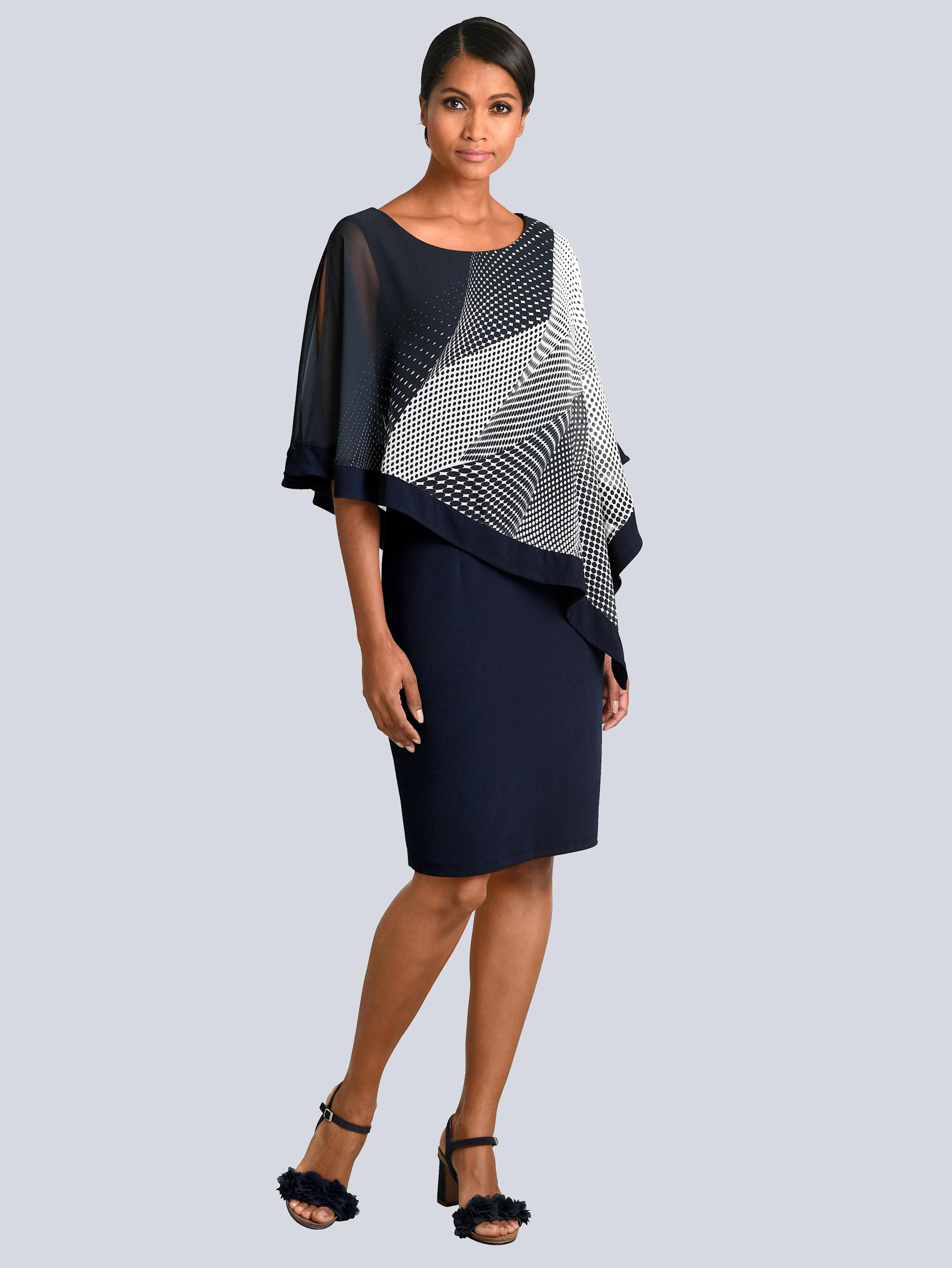 Alba Moda Kleid mit elegantem Chiffon IBV7O r6gKZ
