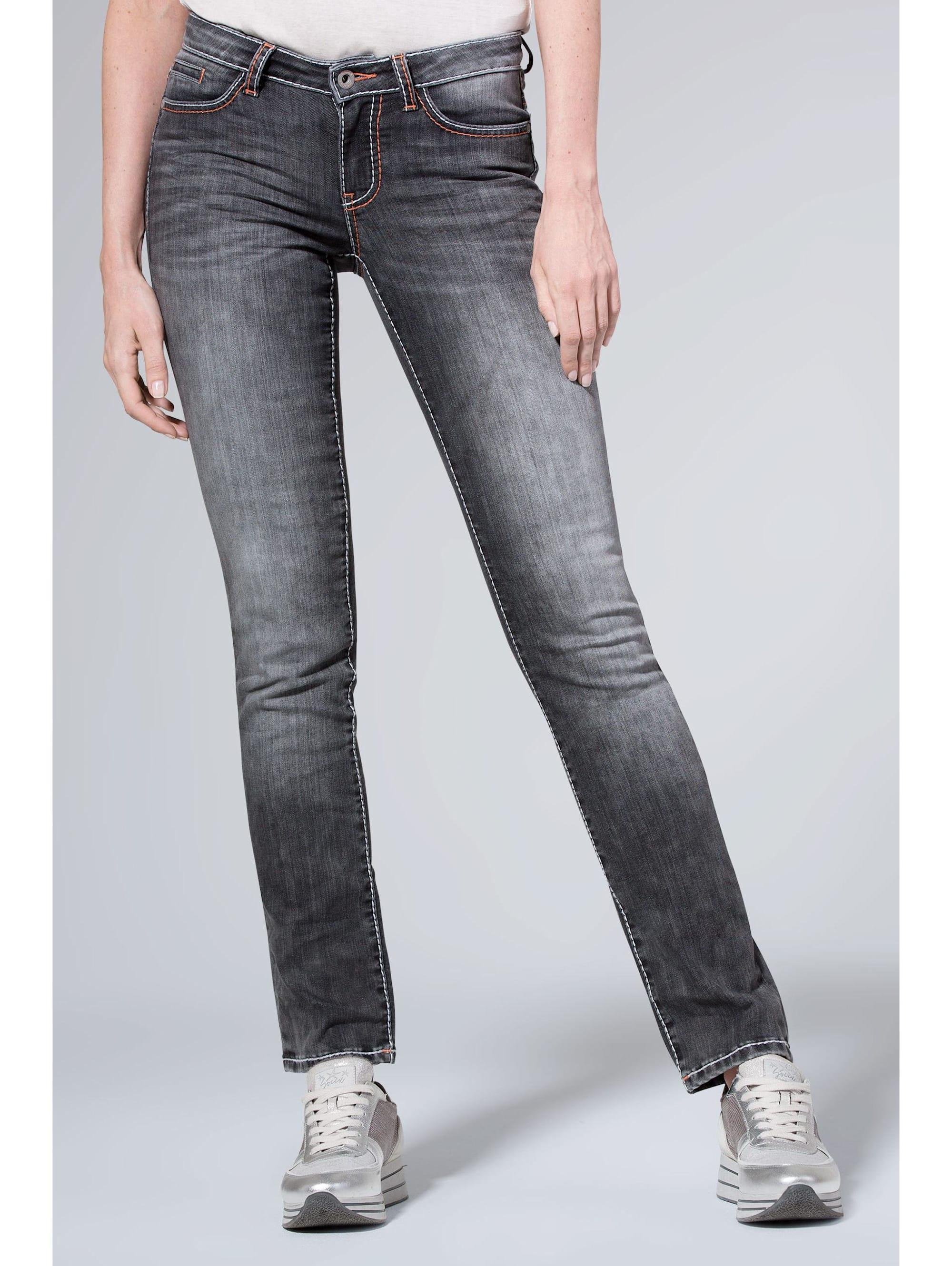 SOCCX Jeans RO:MY mit Used-Optik und breiten Nähten 3XRHz T15ox