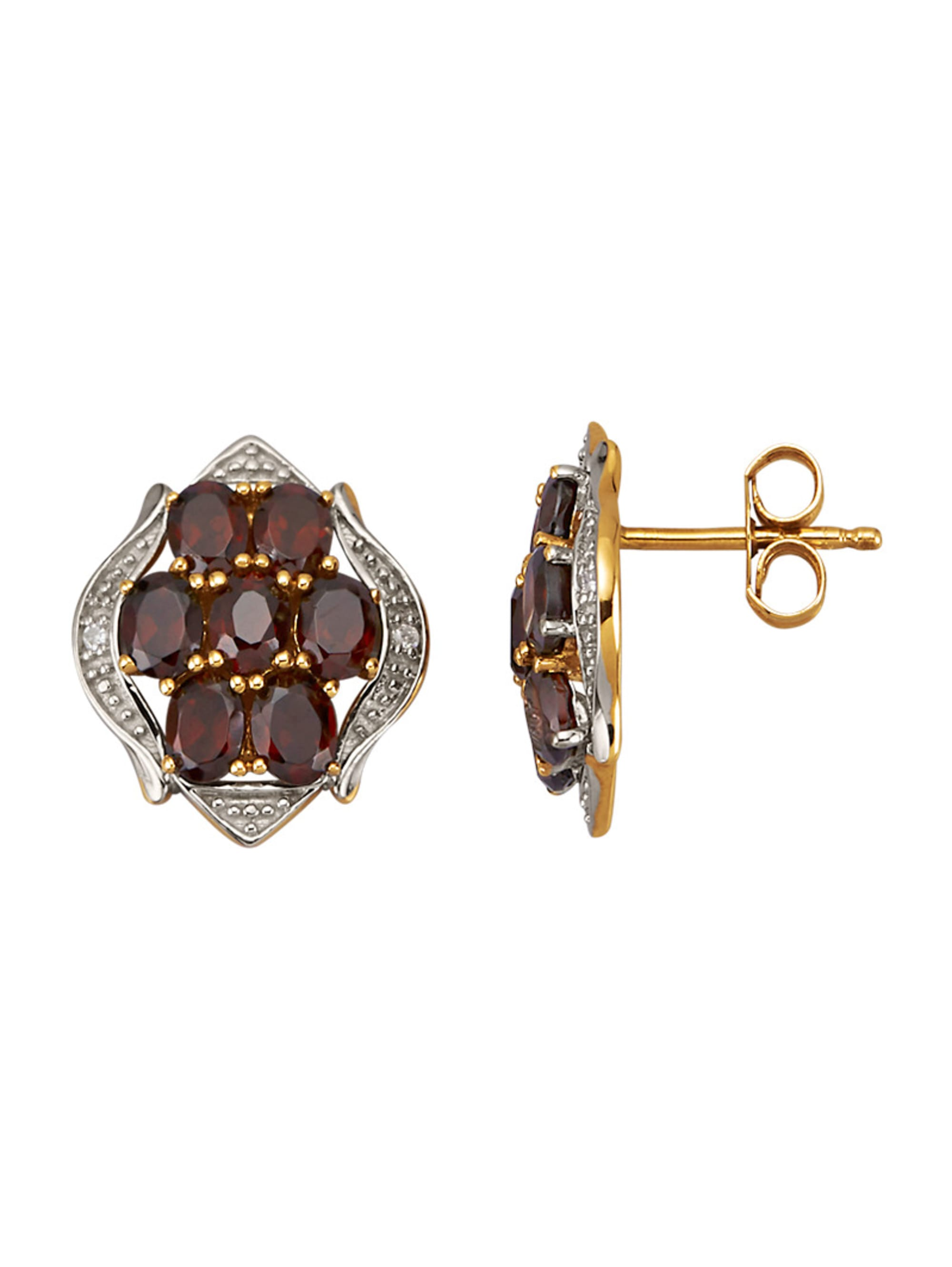 Ohrringe mit Diamanten und Granaten 1lhTd