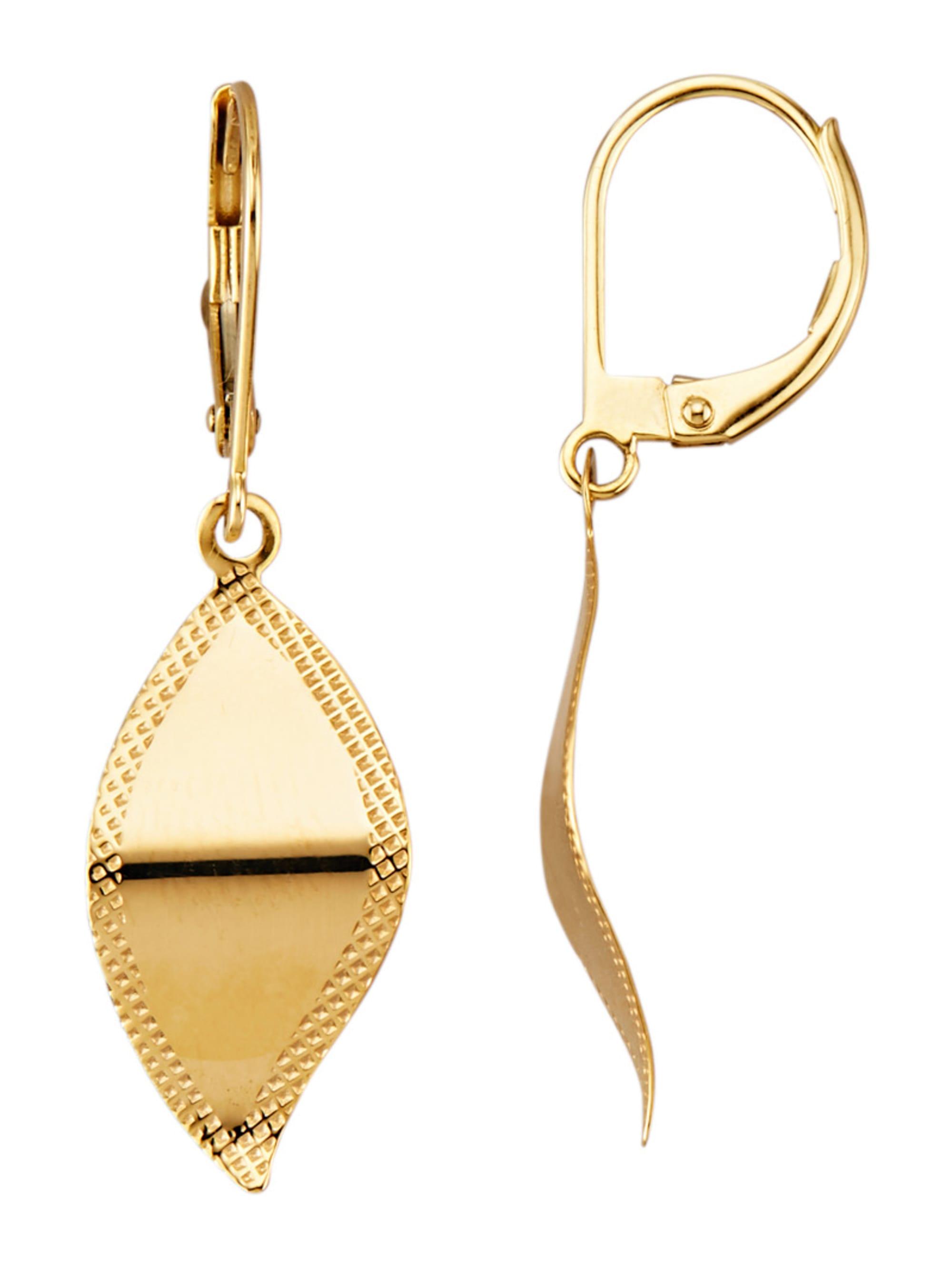 Ohrringe in Gelbgold 375 1mrEG