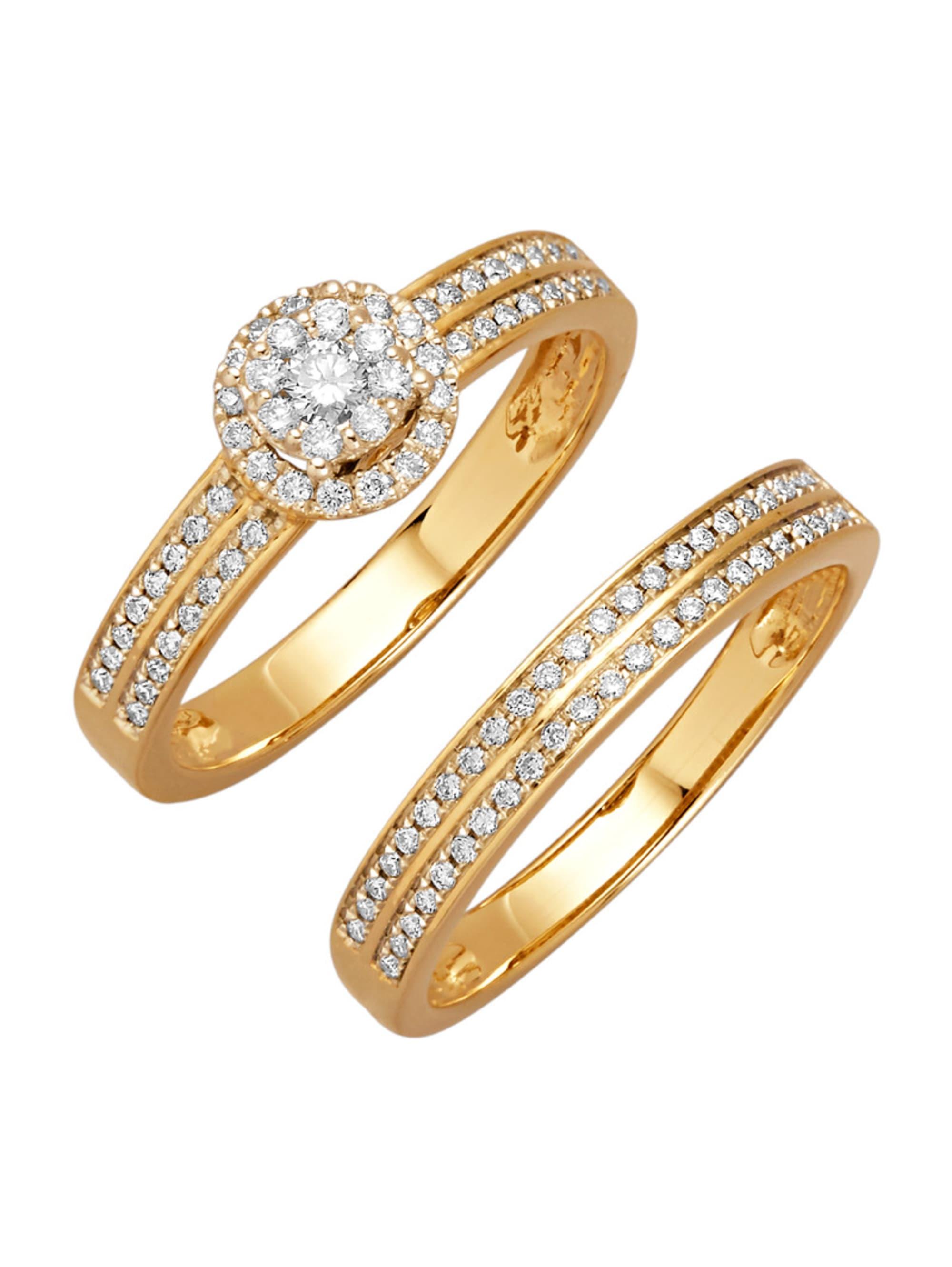 Diemer Diamant 2tlg. Ring-Set mit Brillanten OONa6
