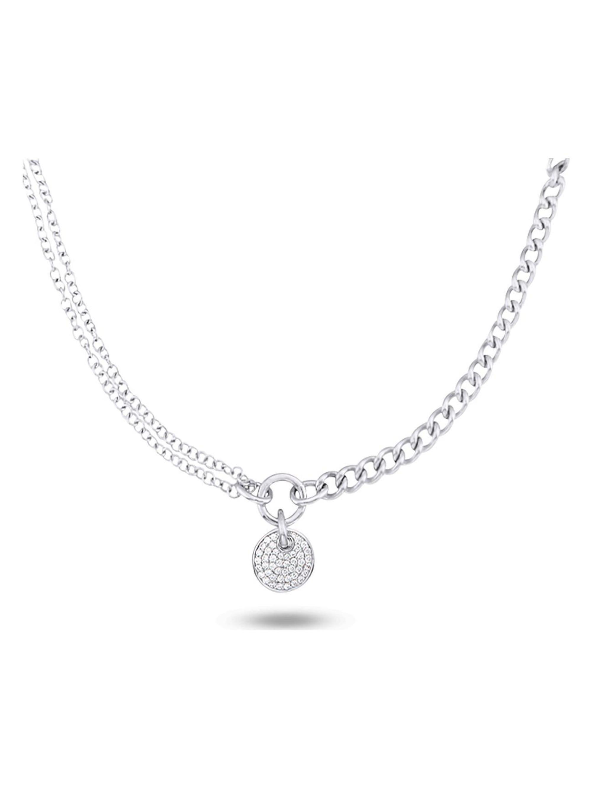 Jette JETTE Silver Damen-Kette 925er Silber 46 Zirkonia BuIrj