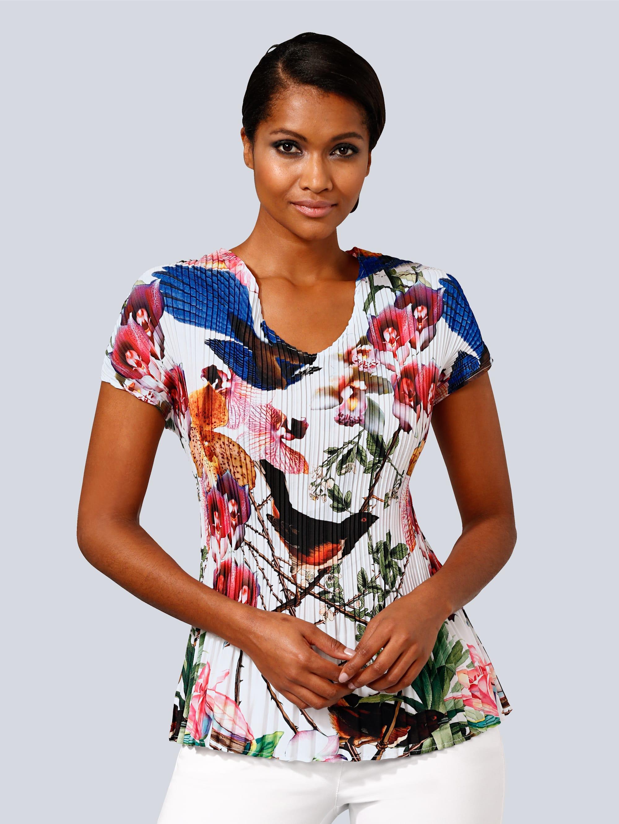 Alba Moda Blusenshirt mit femininem allover Print T6BfS rlRGV