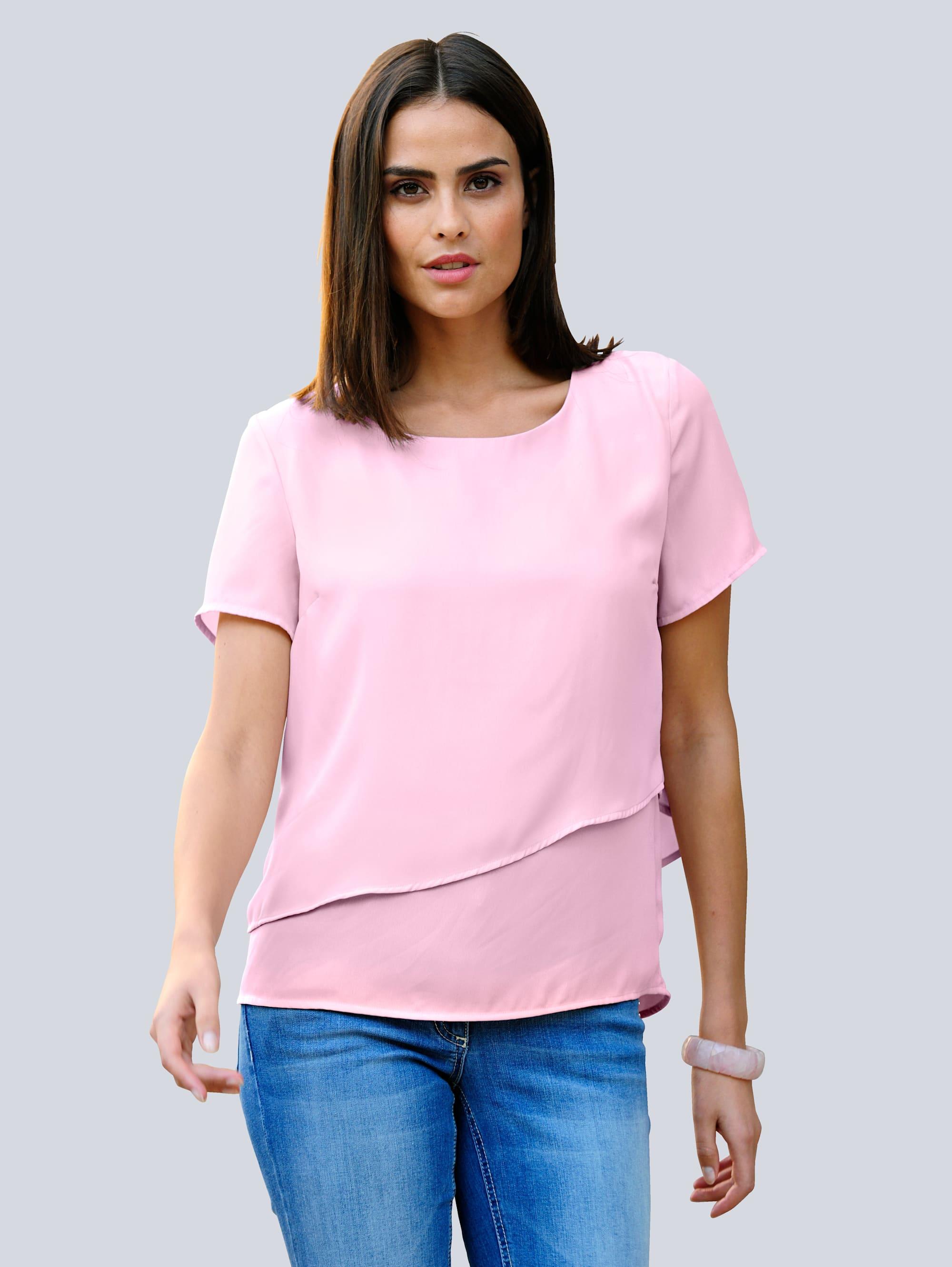 Alba Moda Bluse in sommerlich softer Farbstellung PTXpv HF0Q9