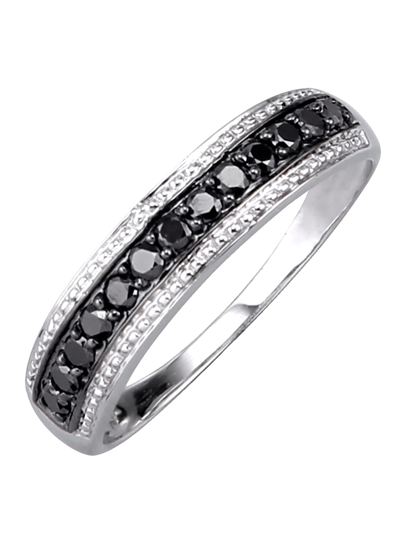 Damenring mit schwarzen Diamanten 3IW8H