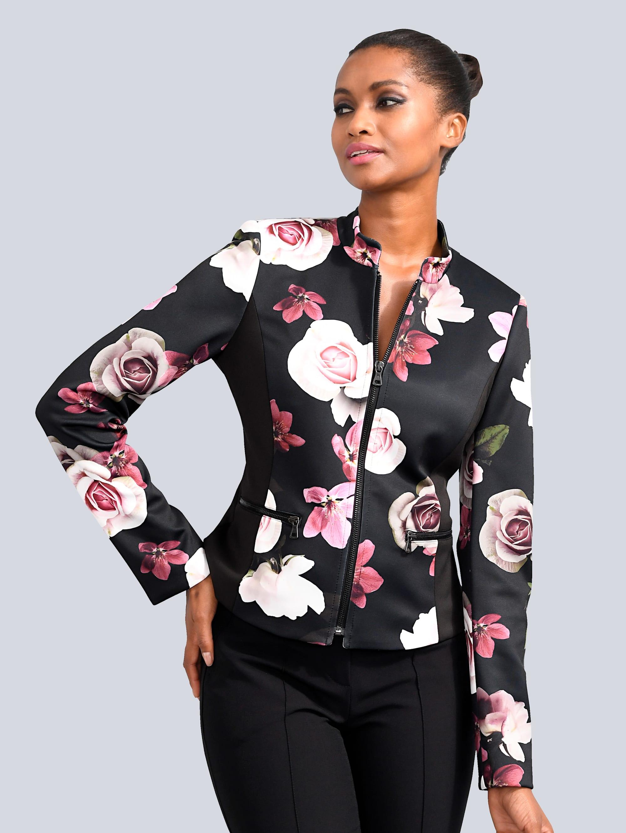Alba Moda Blazer mit wunderschönem Blumenprint allover lxoL2 2fg5d