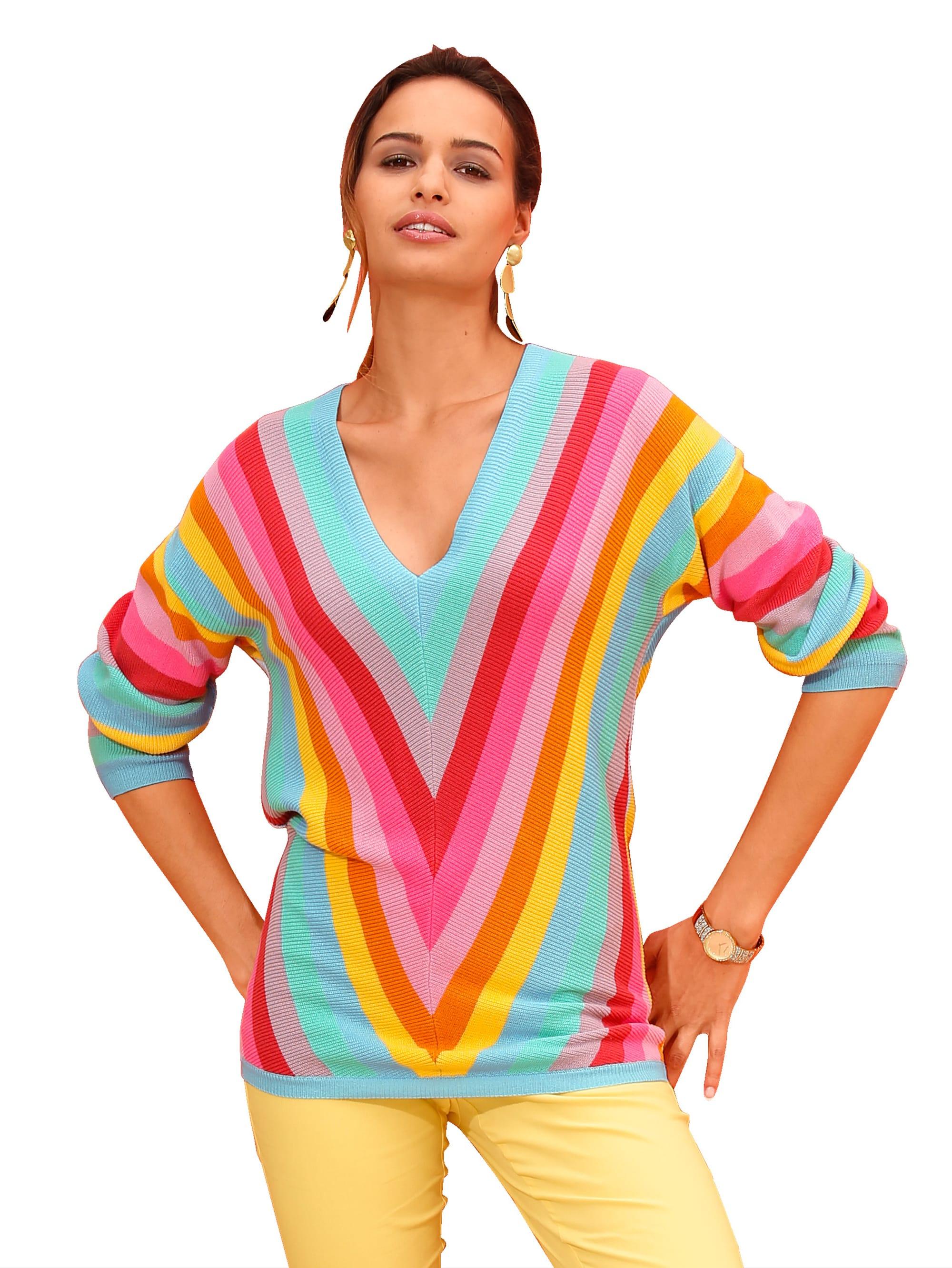 AMY VERMONT Pullover in Regenbogenfarben PnHnk s6lly