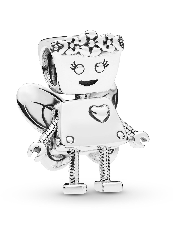 Pandora Charm -Roboter-Blumenmädchen mit Flügeln- hNKVj