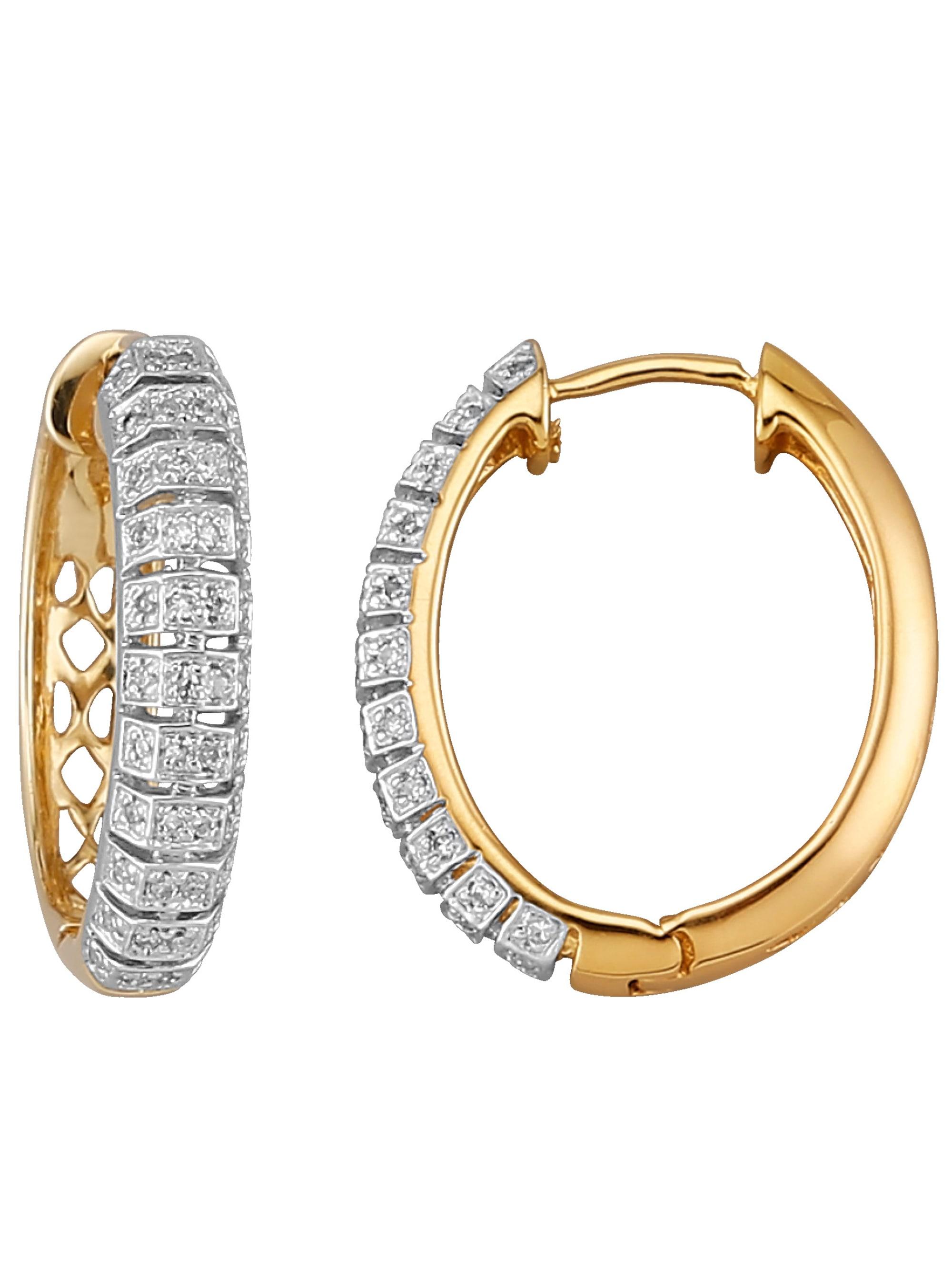 Diemer Diamant Creolen mit Brillanten g4bTp
