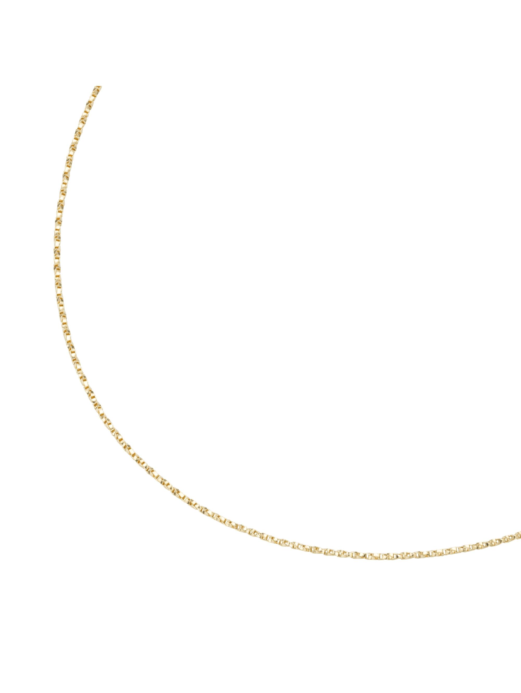 Luigi Merano Kette massiv, gedrehte Optik, Gold 375 oEcYl
