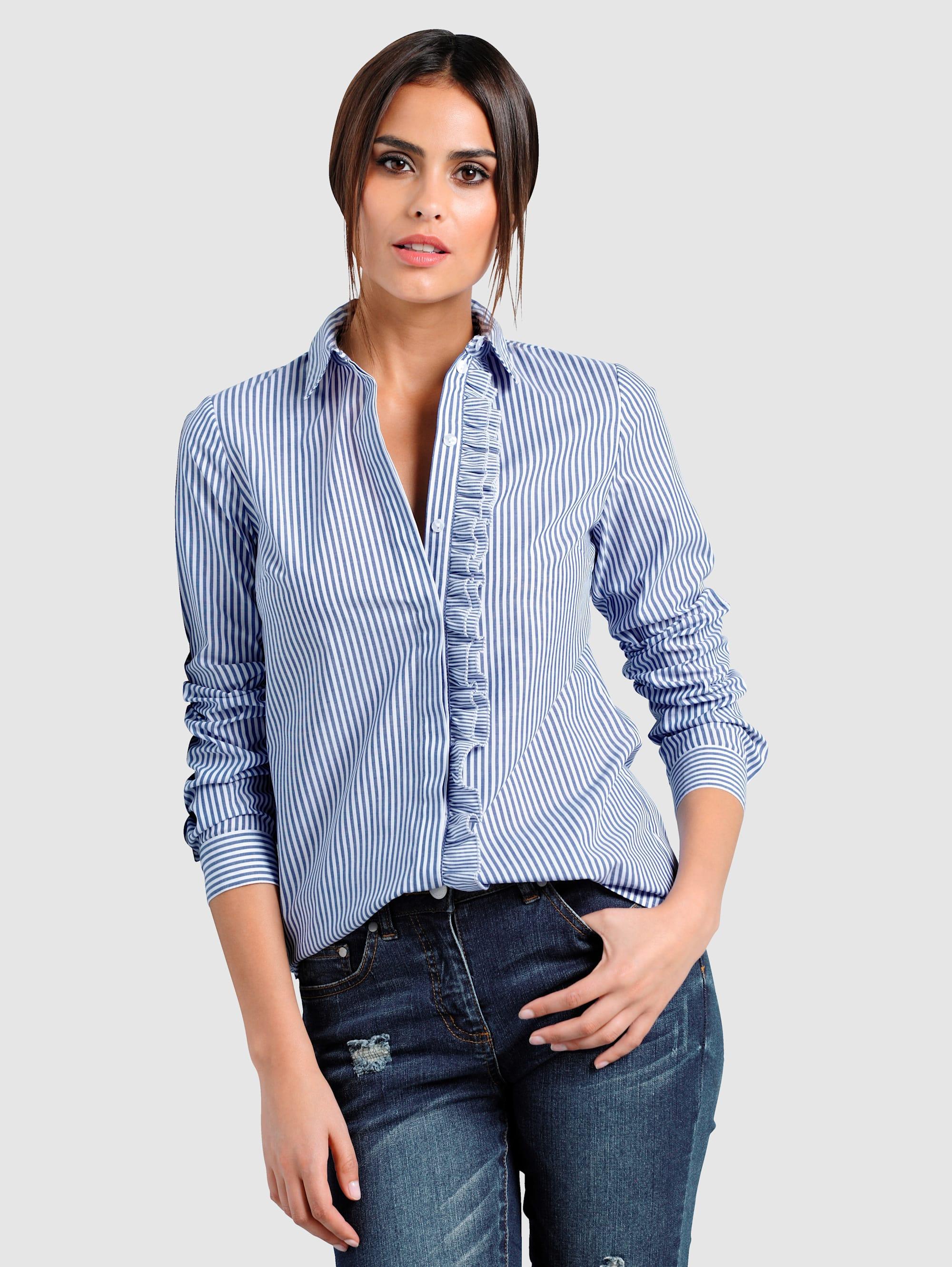 Alba Moda Bluse mit Rüschen Y9eIE Jh5c0