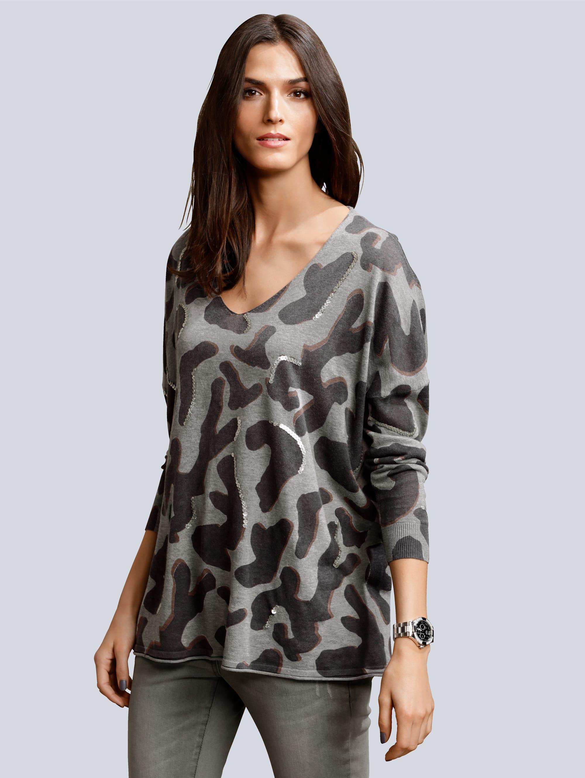 Alba Moda Pullover in trendiger Oversizedform K7Uyz toff8