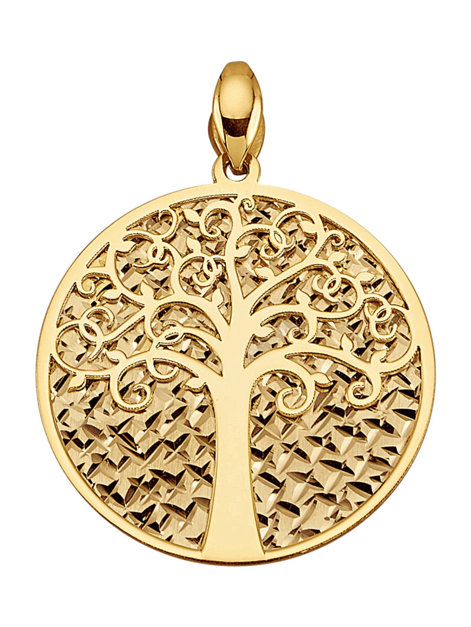 Diemer Gold Lebensbaum-Anhänger Q0H4A