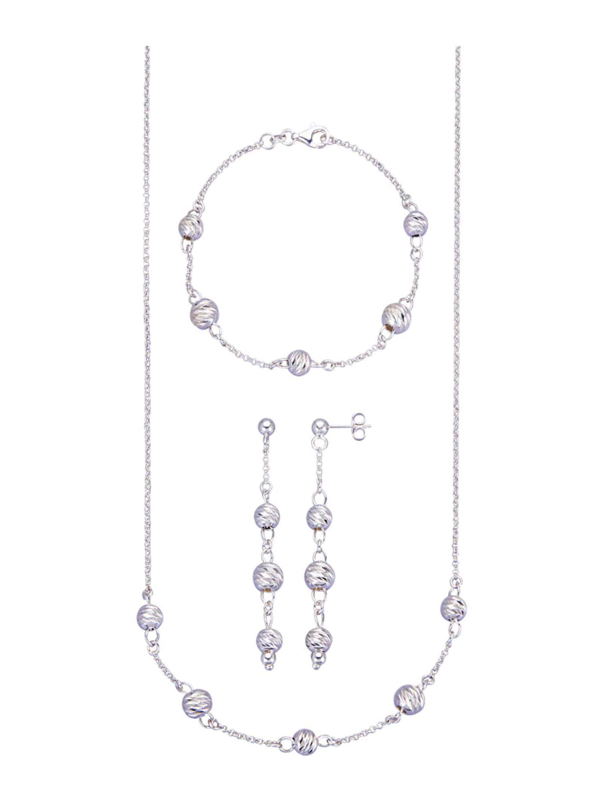 3tlg. Schmuck-Set in Silber 925 fAlfY