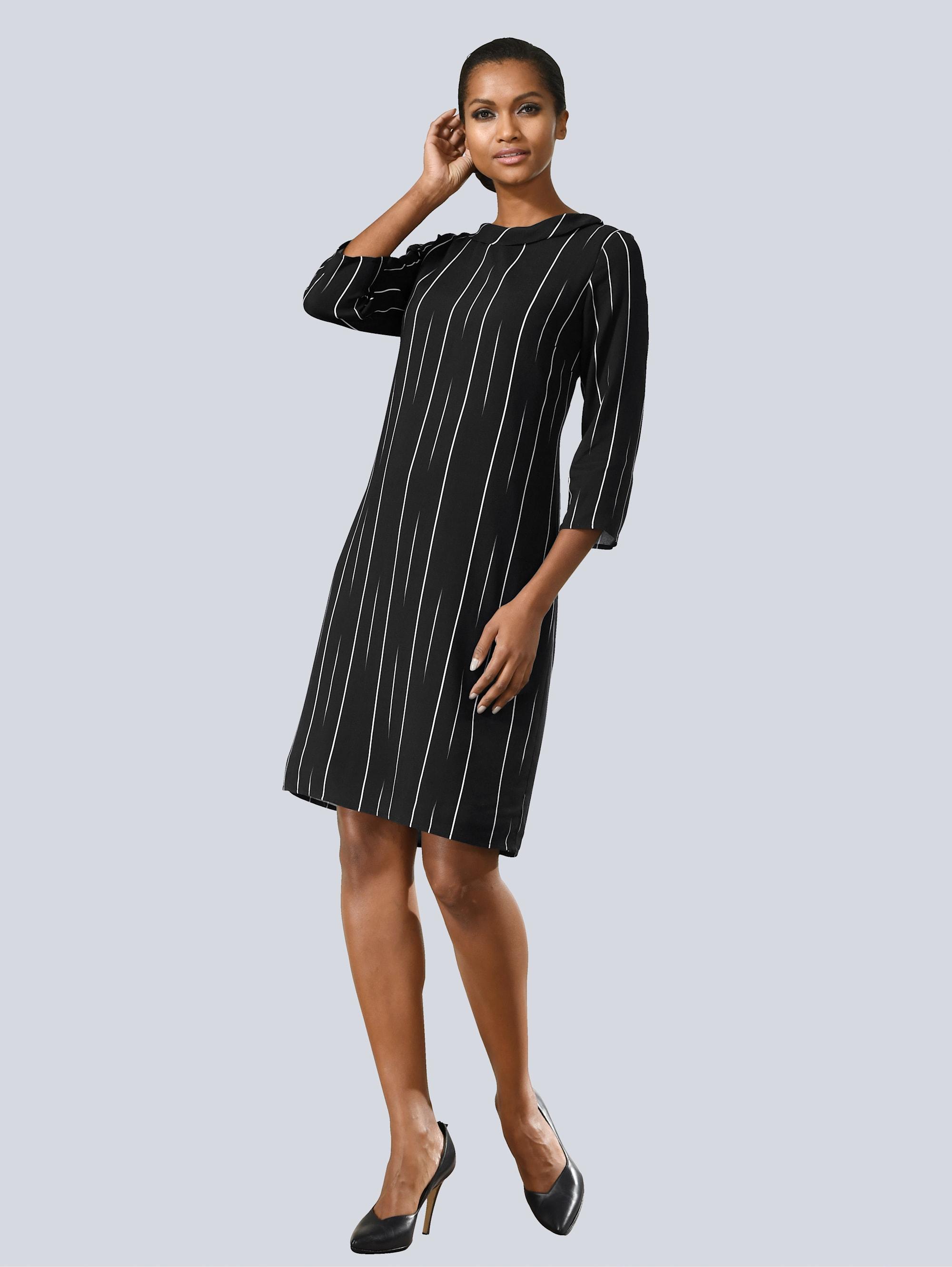 Alba Moda Kleid mit dezenten Streifen XWOTX oB7Du